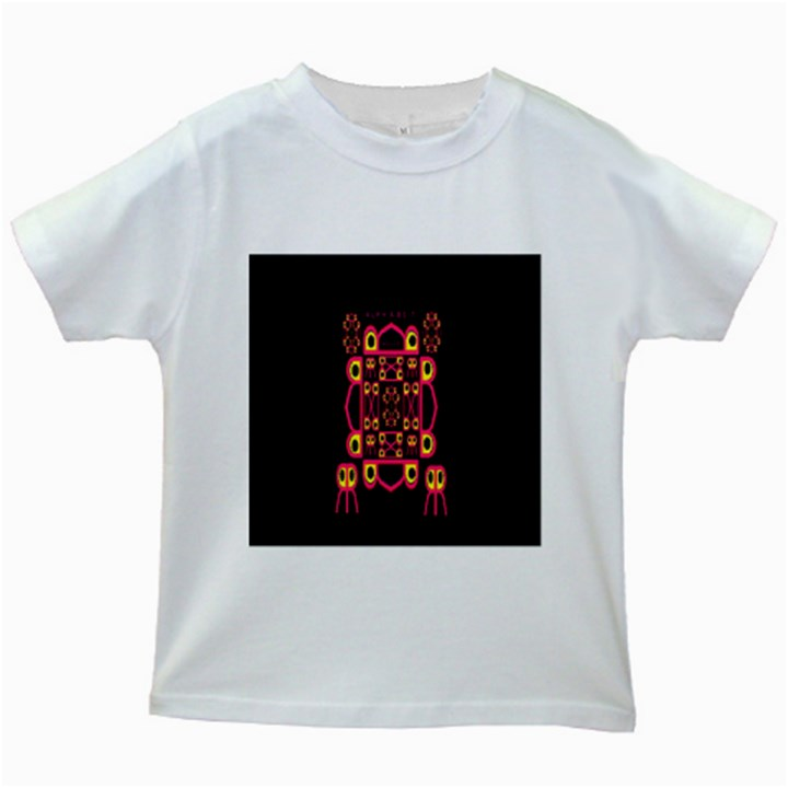 Alphabet Shirt Kids White T-Shirts