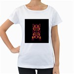 Alphabet Shirt Women s Loose-Fit T-Shirt (White) Front
