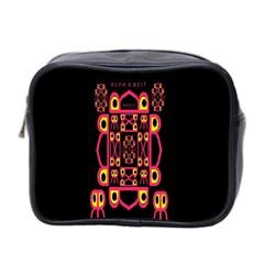 Alphabet Shirt Mini Toiletries Bag 2 Side by MRTACPANS