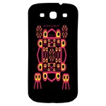 Alphabet Shirt Samsung Galaxy S3 S III Classic Hardshell Back Case Front