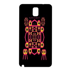 Alphabet Shirt Samsung Galaxy Note 3 N9005 Hardshell Back Case
