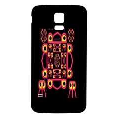 Alphabet Shirt Samsung Galaxy S5 Back Case (white)