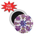 Stylized Floral Ornate Pattern 1.75  Magnets (100 pack)  Front