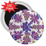 Stylized Floral Ornate Pattern 3  Magnets (100 pack) Front