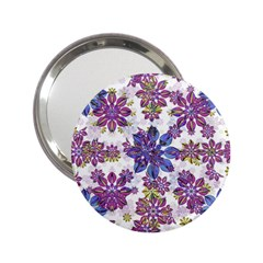 Stylized Floral Ornate Pattern 2 25  Handbag Mirrors