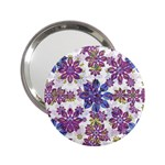 Stylized Floral Ornate Pattern 2.25  Handbag Mirrors Front