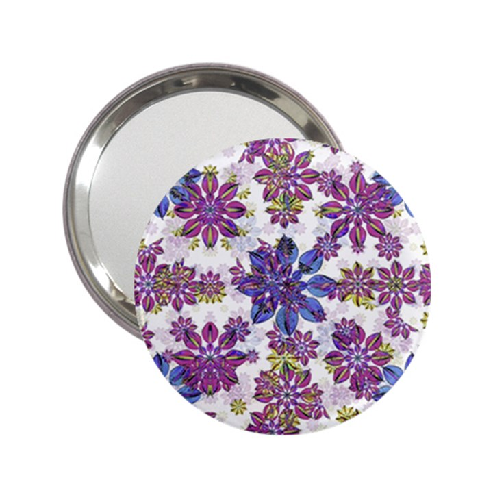 Stylized Floral Ornate Pattern 2.25  Handbag Mirrors