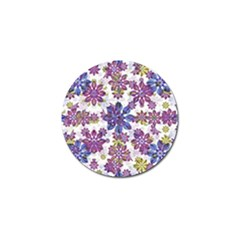 Stylized Floral Ornate Pattern Golf Ball Marker by dflcprints