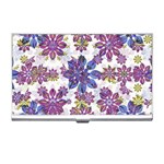 Stylized Floral Ornate Pattern Business Card Holders Front