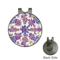 Stylized Floral Ornate Pattern Hat Clips With Golf Markers