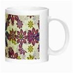 Stylized Floral Ornate Pattern Night Luminous Mugs Right