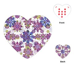 Stylized Floral Ornate Pattern Playing Cards (heart)  by dflcprints