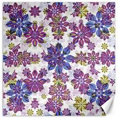Stylized Floral Ornate Pattern Canvas 12  X 12