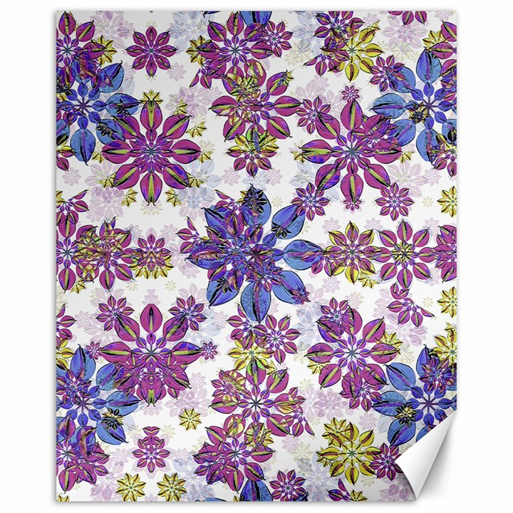 Stylized Floral Ornate Pattern Canvas 16  x 20