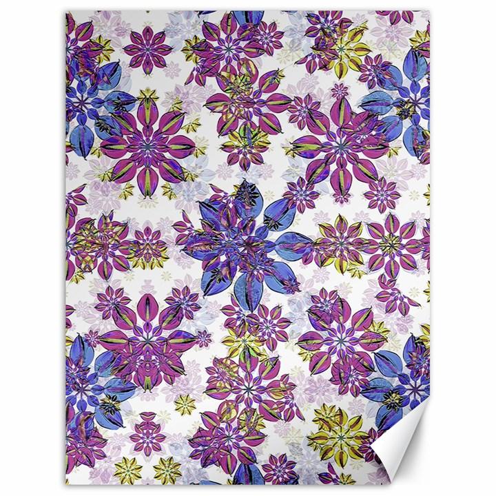 Stylized Floral Ornate Pattern Canvas 18  x 24