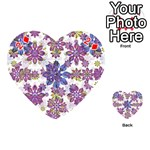 Stylized Floral Ornate Pattern Playing Cards 54 (Heart)  Front - Diamond2