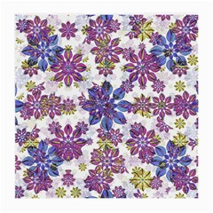 Stylized Floral Ornate Pattern Medium Glasses Cloth (2 Side)