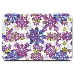 Stylized Floral Ornate Pattern Large Doormat