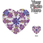 Stylized Floral Ornate Pattern Multi-purpose Cards (Heart)  Front 38