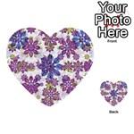Stylized Floral Ornate Pattern Multi-purpose Cards (Heart)  Back 5