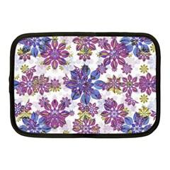 Stylized Floral Ornate Pattern Netbook Case (medium)
