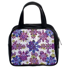 Stylized Floral Ornate Pattern Classic Handbags (2 Sides)