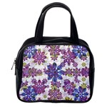 Stylized Floral Ornate Pattern Classic Handbags (2 Sides) Back