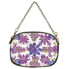 Stylized Floral Ornate Pattern Chain Purses (two Sides)