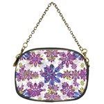 Stylized Floral Ornate Pattern Chain Purses (Two Sides)  Front