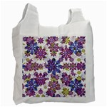 Stylized Floral Ornate Pattern Recycle Bag (One Side) Front