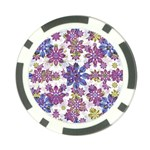 Stylized Floral Ornate Pattern Poker Chip Card Guards (10 pack)  Front