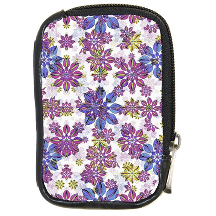 Stylized Floral Ornate Pattern Compact Camera Cases