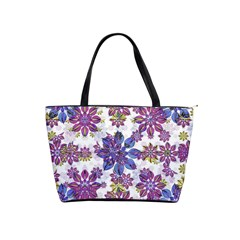 Stylized Floral Ornate Pattern Shoulder Handbags by dflcprints