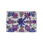 Stylized Floral Ornate Pattern Cosmetic Bag (Medium)  Back
