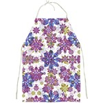Stylized Floral Ornate Pattern Full Print Aprons Front