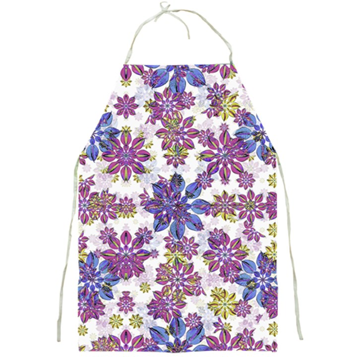 Stylized Floral Ornate Pattern Full Print Aprons