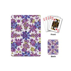 Stylized Floral Ornate Pattern Playing Cards (Mini)