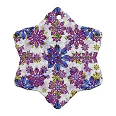 Stylized Floral Ornate Pattern Ornament (snowflake)