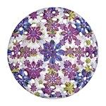 Stylized Floral Ornate Pattern Round Filigree Ornament (2Side) Front