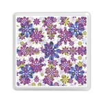 Stylized Floral Ornate Pattern Memory Card Reader (Square)  Front