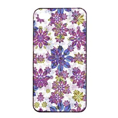 Stylized Floral Ornate Pattern Apple Iphone 4/4s Seamless Case (black) by dflcprints