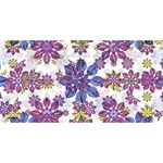 Stylized Floral Ornate Pattern BELIEVE 3D Greeting Card (8x4) Back