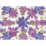 Stylized Floral Ornate Pattern Get Well 3D Greeting Card (7x5) Back