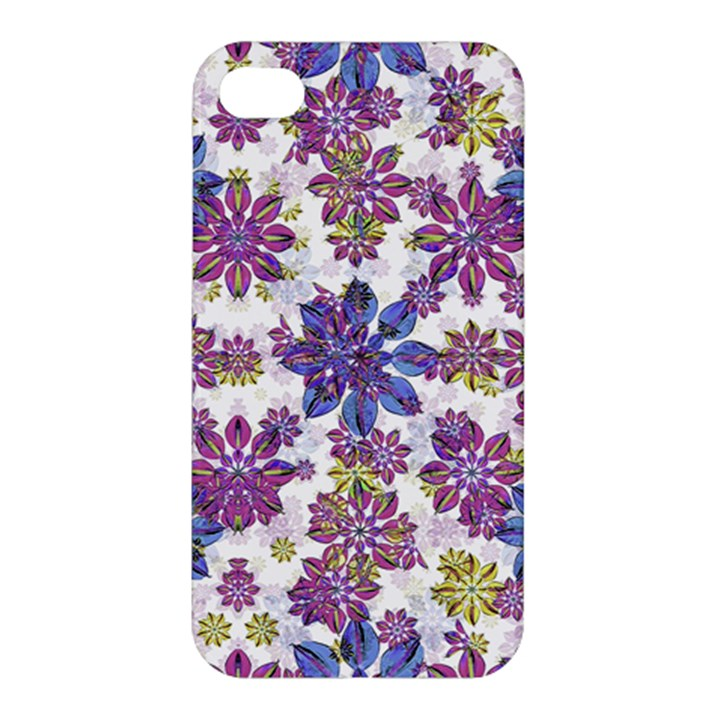 Stylized Floral Ornate Pattern Apple iPhone 4/4S Hardshell Case