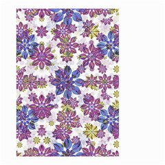 Stylized Floral Ornate Pattern Small Garden Flag (two Sides) by dflcprints