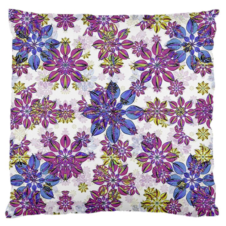 Stylized Floral Ornate Pattern Large Cushion Case (Two Sides)