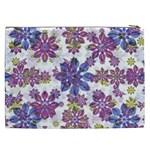 Stylized Floral Ornate Pattern Cosmetic Bag (XXL)  Back