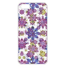 Stylized Floral Ornate Pattern Apple Iphone 5 Seamless Case (white)