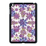 Stylized Floral Ornate Pattern Apple iPad Mini Case (Black) Front