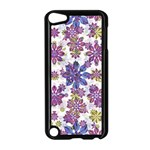 Stylized Floral Ornate Pattern Apple iPod Touch 5 Case (Black) Front